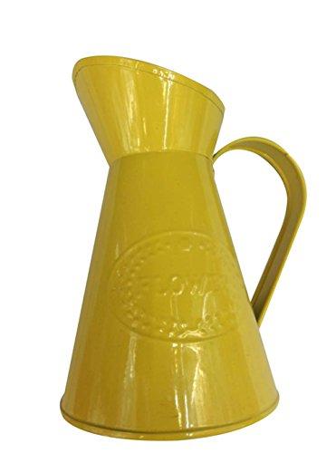 Jarrón decorativo. Florero para el hogar amarillo