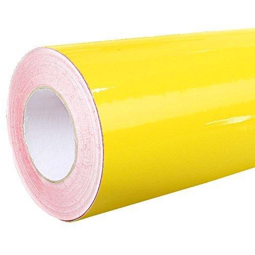 4,75€/m² Rapid Teck® Glanz Folie - 021 Gelb - Klebefolie - 5m x 63cm - Folie selbstklebend - Plotterfolie - auch als Moebelfolie