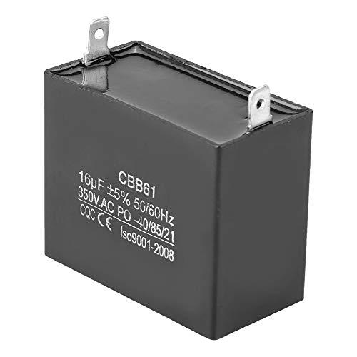Condensador de generador de 350 V CA, motor de 16 uF, generador de condensador de arranque para generadores diésel de Gas sin escobillas