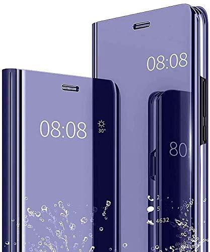 Jeelar Para Samsung Galaxy A32 4G Funda con Tapa con Espejo galvanizado, Funda con Tapa con función de Soporte