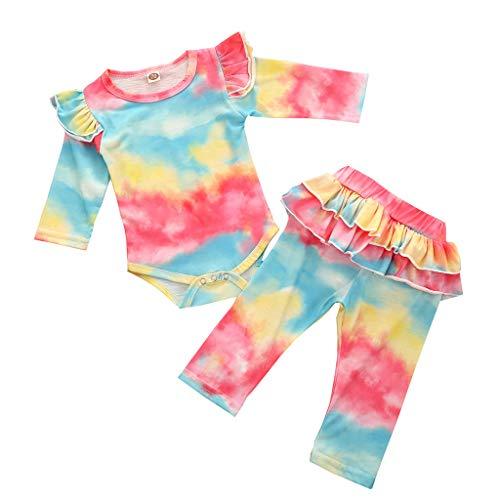 Conjunto de trajes para bebés recién nacidos para niñas y niñas de 12 a 18 meses de niño (rojo)
