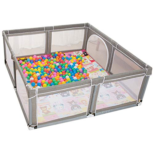 Extra Large Baby Playpen Indoor Fence Anti-Fall Play Pen Infants Crawl Mat Carpet Fence Area Gate Baby Playyard with Balls,Height :27.56'(Size:70.87'x74.80')