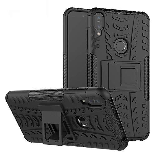 Capa Capinha Anti Impacto Para Asus Zenfone Max Pro M1 Zb602kl Tela 6.0Case Armadura Hybrid Reforçada Com Desenho De Pneu - Danet (Preta)
