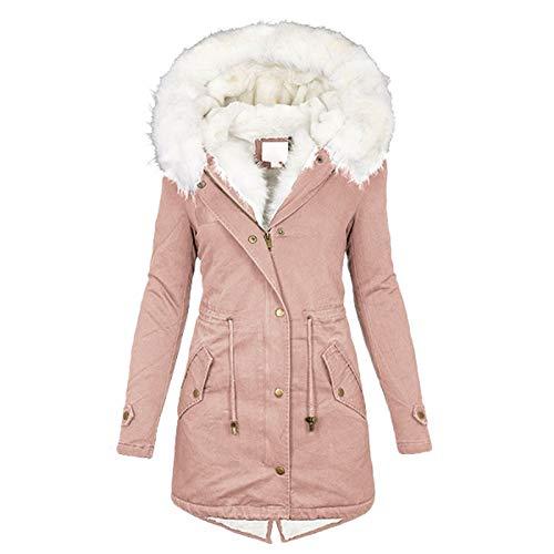 Warme Parka Winterjacke Damen Frauen Warme Kapuze Dicke Gepolsterte Oberbekleidung Big Collar Jacken