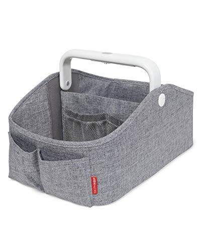Skip Hop Nursery Style Light-Up Diaper Caddy, Grey