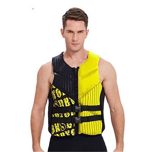 Buy Bargain QERNTPEY Life Jacket Adult Life Jacket Surf Motor Boat Vest Neoprene Super Elastic Buoya...