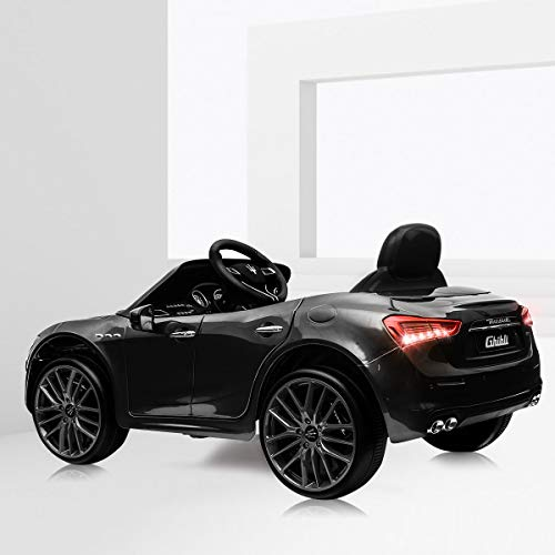 TOBBI Kids Ride On Car Maserati 12V Rechargeable Toy Vehicle w/ MP3 Remote Control Black