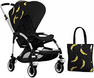 Bugaboo Bee 3 Stroller With Black Seat and Andy Warhol Accessory Kit (Banana/Black) by Bugaboo