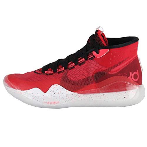Nike Zoom KD 12 Basketball Shoes, University Red / Black-white, 9