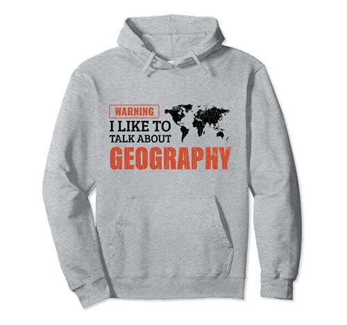 Mi piace parlare di geografia Regalo per l'insegnante Felpa con Cappuccio