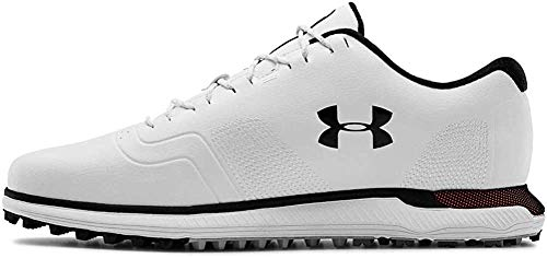 Under Armour Men's HOVR Fade Spikeless Golf Shoe, White/Black, Numeric_8