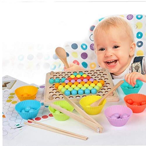 BYFRI Wulstige Spiel Bildungs frühen Kindheit Bildung Holz Holzkugel Puzzle-Eltern-Kind-Interaktion Kinder-Spielzeug Geschenk