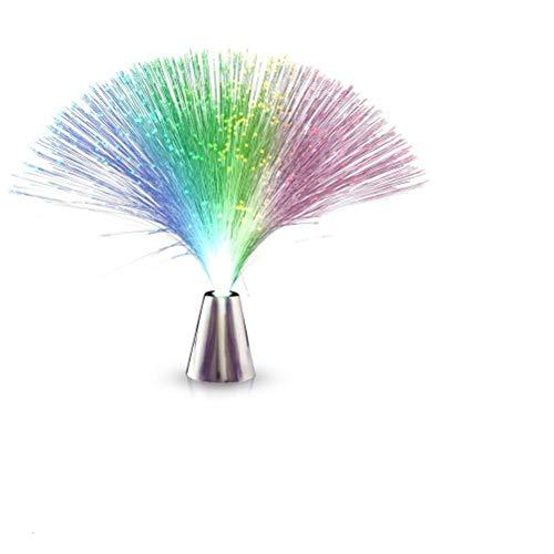 Gutyan Lámpara De Fibra De Vidrio Lámpara De Fibra De Vidrio Hermoso Color Romántico Que Cambia con Una Franja De Luz De Pedestal Fiesta, Discoteca, Concierto