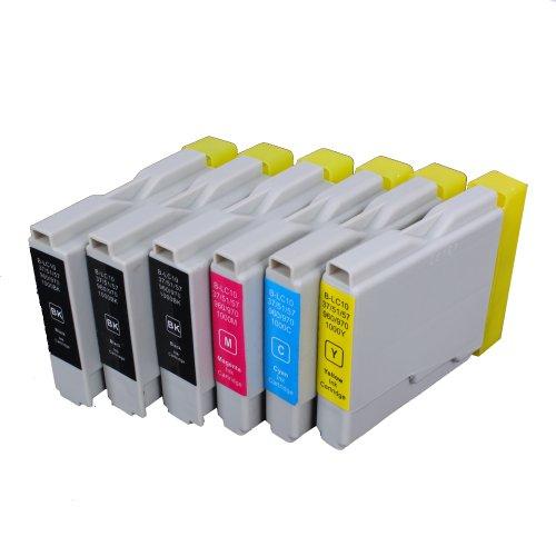 6 Multipack de alta capacidad Brother LC-1000 , LC-970 Cartuchos Compatibles 3 negro, 1 ciano, 1 magenta, 1 amarillo para Brother DCP-110C, DCP-115C, DCP-117C, DCP-120C, DCP-130C, DCP-135C, DCP-150C, DCP-153C, DCP-310CN, DCP-315CN, DCP-330C, DCP-340CW, DCP-350C, DCP-353C, DCP-357C, DCP-540CN, DCP-560CN, DCP-750CW, DCP-770CW, FAX-1355, FAX-1360, FAX-1460, FAX-1560, FAX-1835C, FAX-1840C, FAX-1940CN, FAX-2440C, HL-1230, HL-1430, HL-1440, HL-1450, HL-1470N, HL-1650, HL-1670N, HL-1850, HL-1870N, HL-2460, HL-7050, HL-7050N, MFC-210C, MFC-215C, MFC-235C, MFC-240C, MFC-260C, MFC-3240C, MFC-3340CN, MFC-3360C, MFC-410CN, MFC-425CN, MFC-440CN, MFC-465CN, MFC-5440CN, MFC-5460CN, MFC-5840CN, MFC-5860CN, MFC-620CN, MFC-640CW, MFC-660CN, MFC-680CN, MFC-820CW, MFC-845CW, MFC-885CW, MFC-885CW. Cartucho de tinta . LC-1000BK , LC-1000C , LC-1000M , LC-1000Y , LC-970BK , LC-970C , LC-970M , LC-970Y © 123 Cartucho