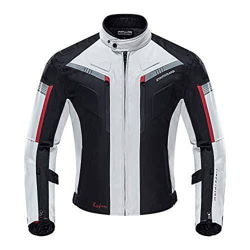 Zyxformis Chaqueta de Motocicleta de Moto para Hombre, Respirable, Armadura Protección, reflexión de alto brillo, para verano primavera otoño toda estaciòn