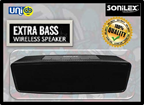 Selling Uniqness Sonilex Bluetooth with Extra Bass Multimedia Wireless Speaker with Rechargeable Battery 5 Hours Standby, (Black)