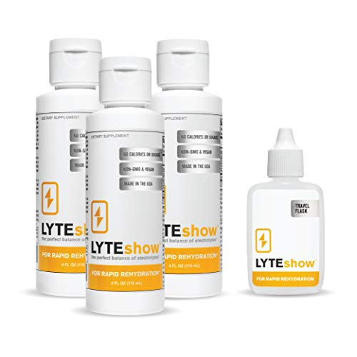 LYTEshow Electrolyte Supplement for Hydration (40 Servings) | Zinc, Magnesium, Potassium | No Sugar & Calories, Non-GMO, Vegan, Gluten Free | Immune Support, Muscle Recovery, Energy