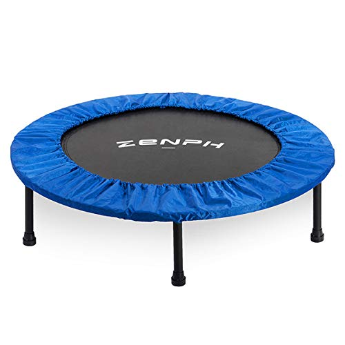 Zenph Foldable Mini Trampoline Ø102CM/40 Inch,150kg Max Weight Capacity, Folding Storage,for Exercise and Burning Fat Indoor