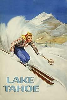 Blond Girl Lady Ski Winter Sport Skiing Mountains in Lake Tahoe 16