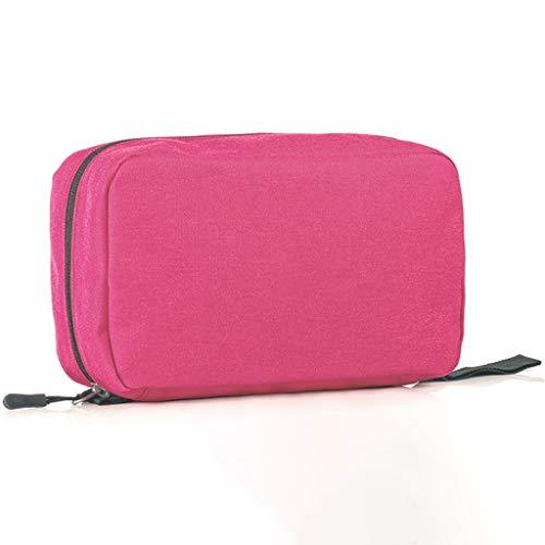 XWYSNH Borsa da Toilette Borsa da Viaggio, Impermeabile e impilabile, Scomparto a Rete e Zip, Ideale for i Viaggi |, Borsa cosmetica, Custodia da Toilette S6N8H3 (Colore : Rosa)