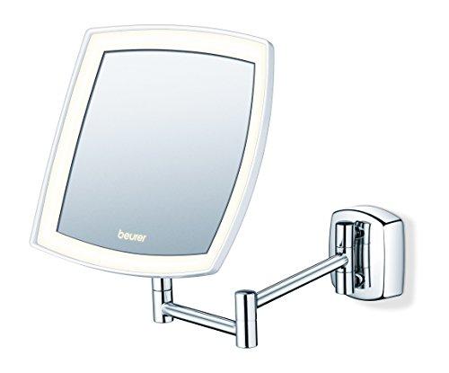 Beurer BS89 - Espejo maquillaje con luz, color plata