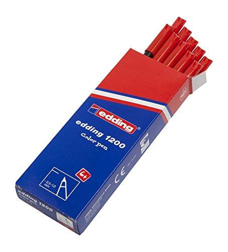 Edding 1200-002 - Rotulador con punta de fibra, 10 unidades,