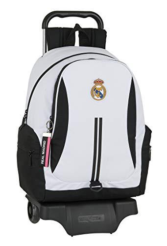 Safta 612054313 Mochila grande ruedas  carro  trolley Real Madrid CF