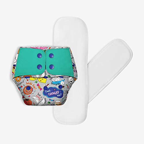 Superbottoms Cloth Diapers Plus Reusable All in One Diaper with 2 Organic Cotton Soakers and Dry Feel - Wandering Foodie