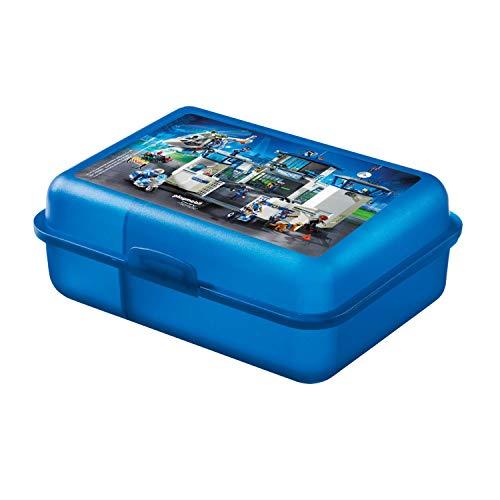 Playmobil United Labels City Action-Jungen Brotdose Lunchbox Schule Polizei, 17,5 x 12,8 x 6,9 cm, Plastik, Bunt, 8 x 6, 9 cm
