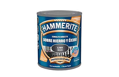 Hammerite Esmalte directo sobre hierro y óxido Liso Brillante Gris Plata 2,5 L