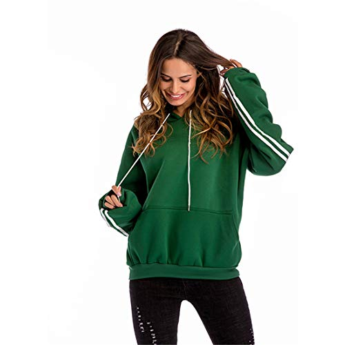 Review Of Women Fashion Hooded with Pocket Casual Solid Color Hoodies Sweatershirt Sportswear Green