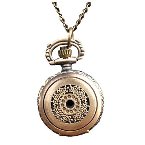 Women Pocket Analogue Quartz Pocket Watch Dense Flower Pattern Necklace Pendant Pocket Watch Bronze Vintage Chain Necklace Pocket Watch S Ideal Choice