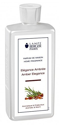 Lampe Berger 115305 Recharge parfum de maison pour lampe à parfum Elégance Ambrée 500 ml