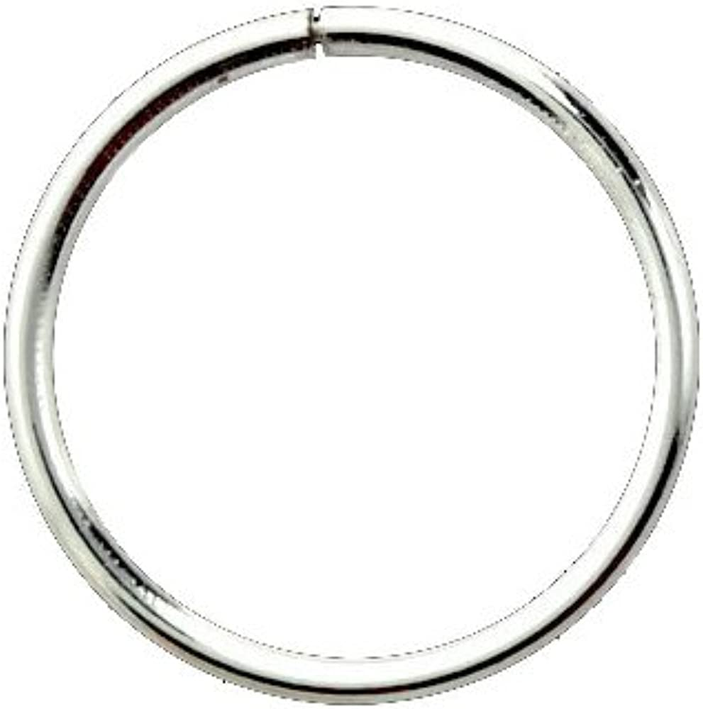 925 Sterling Silver Nose Ring Seamless Continuous Ranking TOP18 Translated Gauge Hoop 18