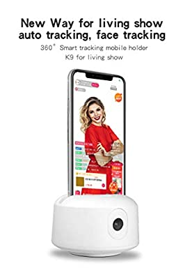 Tracking Tripod, Smart Selfie Stick?NO APP Required? 360°Rotation Face Object Auto Smart Tracking Selfie Camera Shooting Cell Phone Camera Mount Compatible Phone, Tablet by SRUIM