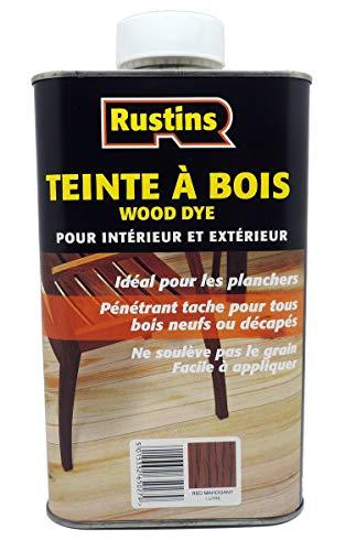 Rustin's (WDRM250) Teinte à Bois – Pour tous les types de bois – Lasure – teinte Acajou rouge – 24m²/L - 250ml