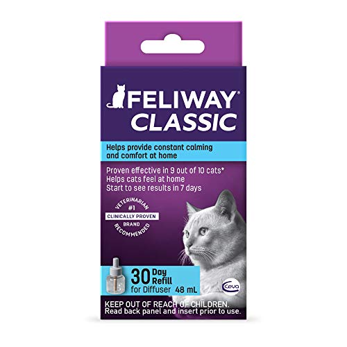 Feliway Classic 30 Day Diffuser Refill, 48 ml (Pack of 1)