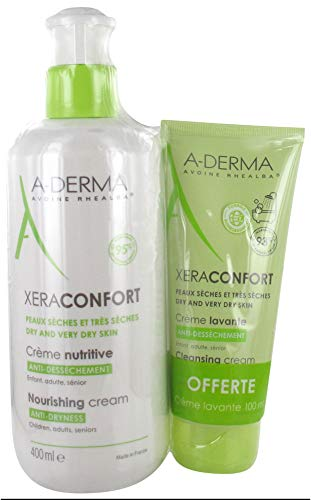 Aderma Xeraconfort Crema Nutritiva Anti-Sequedad, 400 ml + Crema Limpiadora Gratuita 100 ml