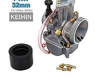 オートバイユニバーサルkeihin mikuni koso okoキャブレターcarburador 21 24 26 28 30 34 ミリメートル電源ジェットレーシングモト 2t 4t-KEIHIN 32MM