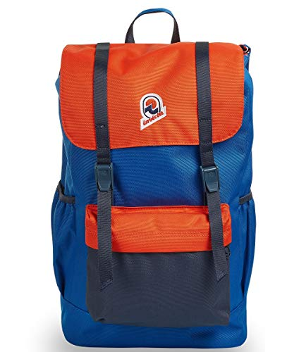 Invicta CHAT Colorblock Orange-Blue Laptop Backpack for 15.6'' Work and Work Study