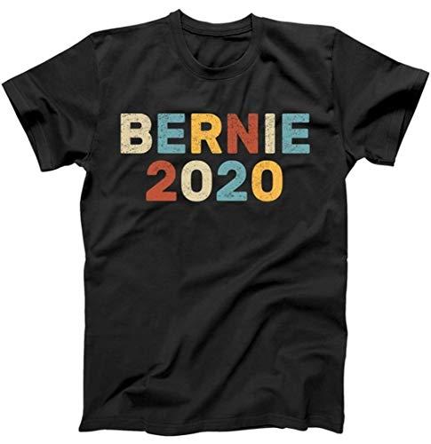 Bernie 2020 Sanders Vintage Colorful Logo T-Shirt Black Large