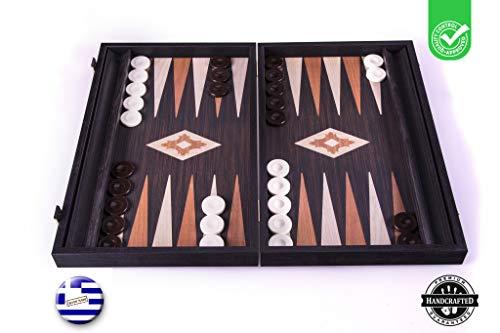 Manopoulos 'Wenge' Backgammon Set - 48x36 cm Backgammon Aus Holz mit Schublade