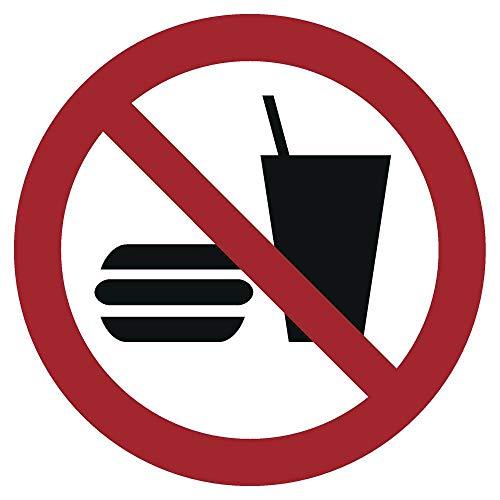 Essen und Trinken verboten Aufkleber Ø 10 cm (wetterfest)