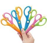 Juego de 4 tijeras para niños con mango de plástico, tijeras de entrenamiento para preescolar, diseño infantil