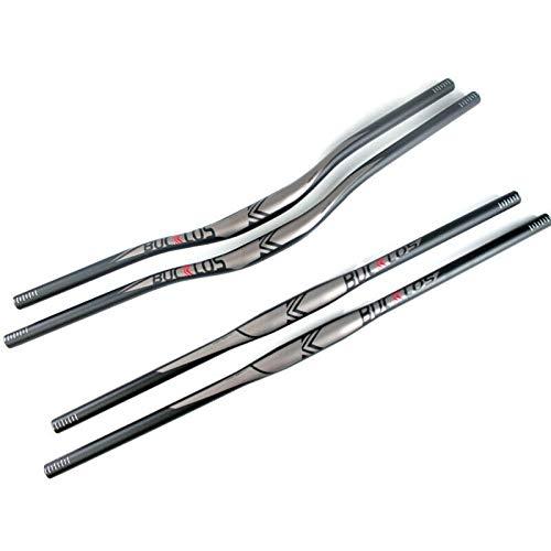 BUCKLOS 【US Stock】 25.4/31.8mm Handlebar Flat/Riser Bar Mountain Bike Handlebars, Aluminum Alloy MTB Handlebar 660/720/780mm, Premium Matter Mount Bikes Bicycle Handle Bar