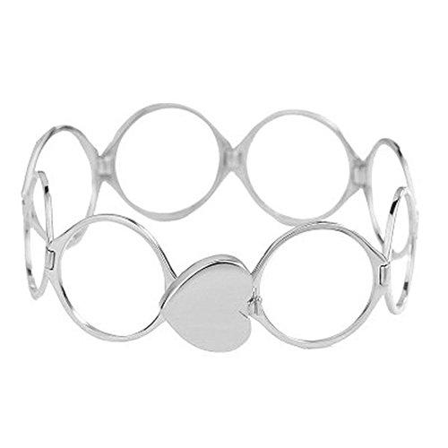 ROVNKD Halskette Damen Halskette Rosegold Halskette Silber 925 ohne anhänger Halskette Silber Halskette männer Halskette Herz Kette