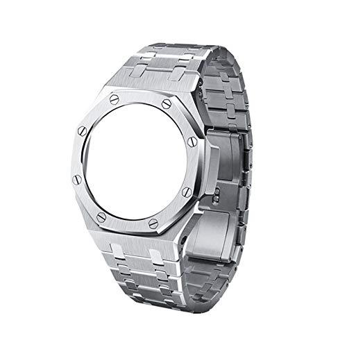 PZZZHF Bisel de Reloj de Reloj GA2110 GA2110 de la Tercera generación GA2100 Bisel de Reloj de Reloj para Casio G GA-2100 Relojes para Hombre Accesorios de reemplazo (Band Color : Silver A)