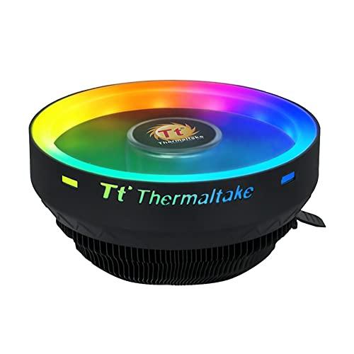 DHYED Cpu Coolers refrigeración CPU Cooler ventilador silencioso 12 V RGB LED efecto de iluminación PC ordenador disipador calor radiador para LGA 115X