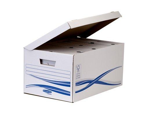 Bankers Box 4460504 Klappdeckelbox Maxi und 6 Stück Archivschachteln, 80 mm - 4