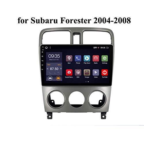 HP CAMP Android 9.0 8 Core Navegación GPS Táctil para Subaru Forester 2004-2008, Car Radio Soporte BT/Mirror Link/USB/SWC/Cámara Trasera/FM/Google Map/Multi-Lingual,4g WiFi 4g+64g